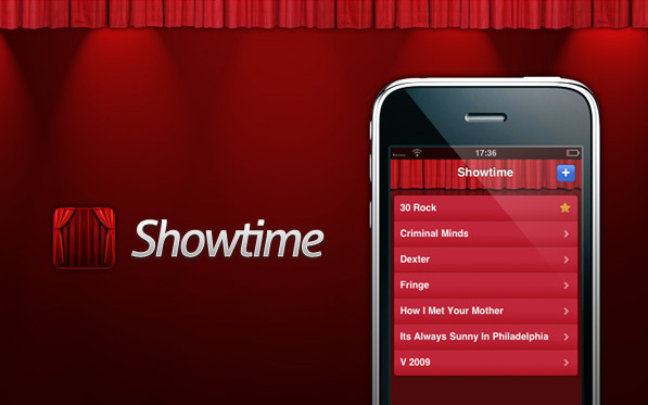 Showtime – Beautiful web app for your iPhone