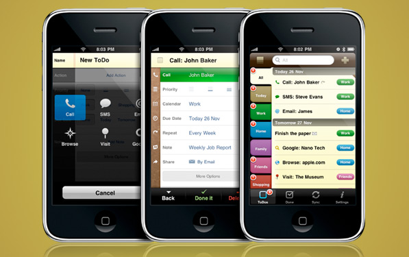 2Do – A beautiful execution of task lists on the iPhone