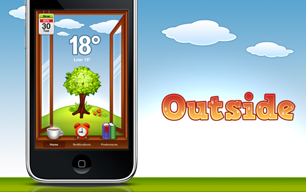 Post image for Outside app – Perhaps even prettier than the real outside