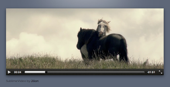 SublimeVideo: Beauty comes with this HTML5 video player