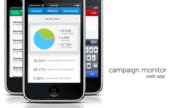 Campaign Monitor announces stunning iPhone web app