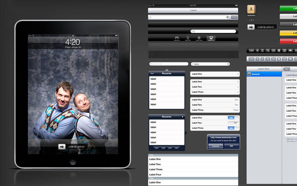 The iPad GUI PSD is good to go! [Update: Or not?]