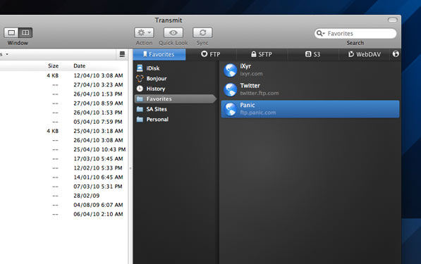 Transmit 4 is a beautiful beautiful FTP client