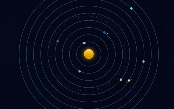 what causes the planets and moons in our solar system to orbit the sun - photo #37