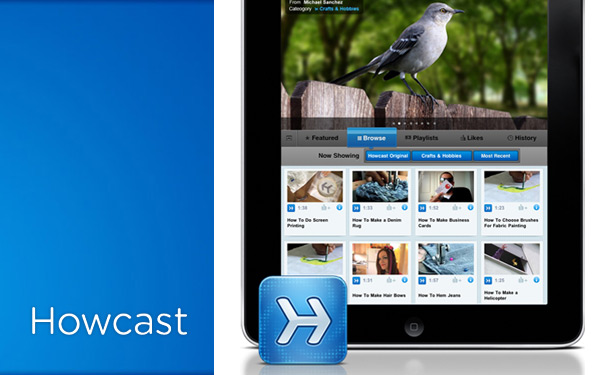 Post image for Howcast for iPad: Contently designed.
