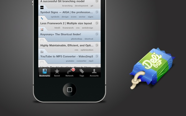 Delibar touch — Keep on bookmarking on the go