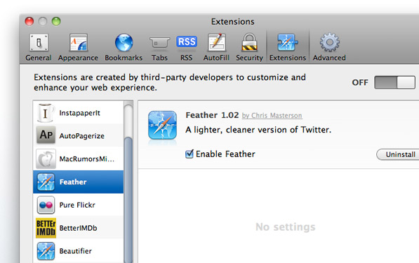 Post image for 5 Safari Extensions to beautify your internets