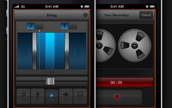 Dring: Hot UI for ringtone creation