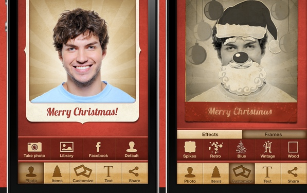 Digital Christmas Cards, stunnified with facecard.