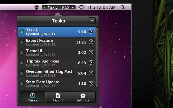 Tictoc: Menubar task manager