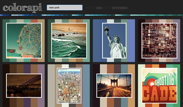 Find Color Inspirations from Flickr Photos using Colorapi