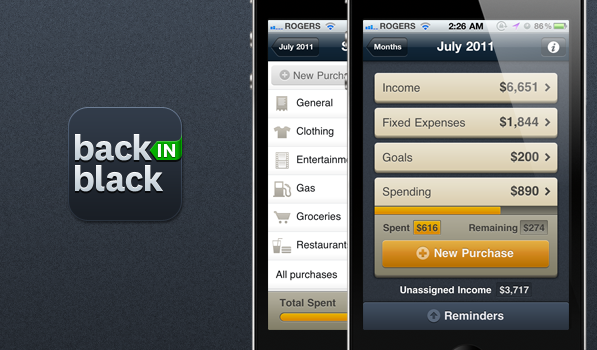 Back in Black isn't just Yet Another Sexy Budgeting App