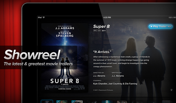 Showreel — Movie Trailers on your iPad in Glorious HD