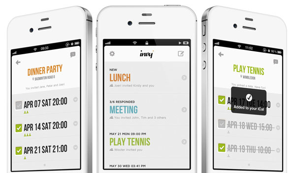 Invy App A Beautiful Event Planner For Iphone Beautiful Pixels