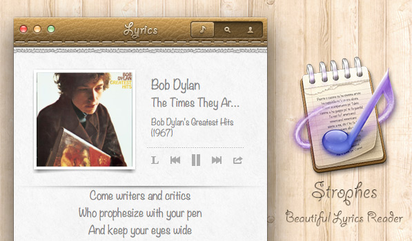 Display the Lyrics of your Favorite Hits with Strophes for Mac [Sponsor]