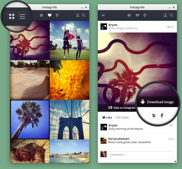 Instagrille — The Instagram App for your PC