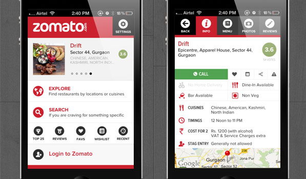 Post image for Zomato's iOS App Update is All Kinds of Awesome