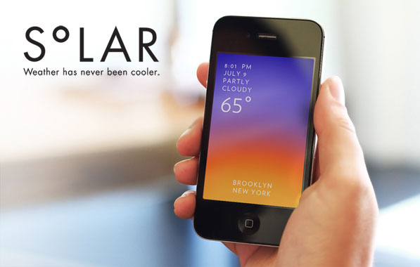 Solar is an Elegant and Gesture Driven Weather App