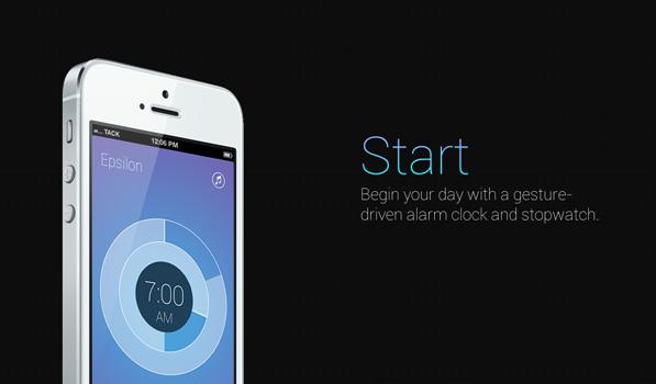 Start — A Gesture Based Alarm App