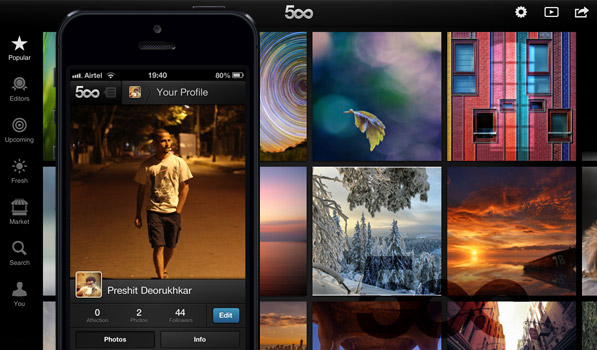 500px — Browse Stunning Photographs on your iOS Device