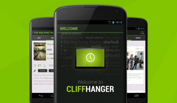 Cliffhanger — Another Beautiful TV Show Tracker for Android