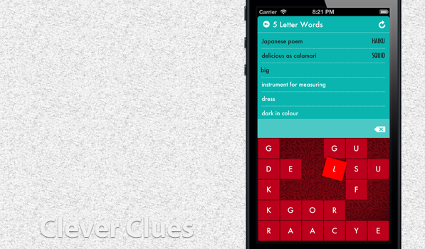 Clever Clues — Another Addictive Word Game for iPhone