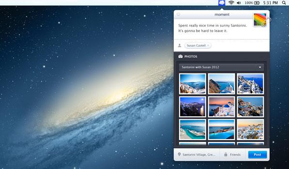 Moment for Mac Brings Facebook to your Menubar