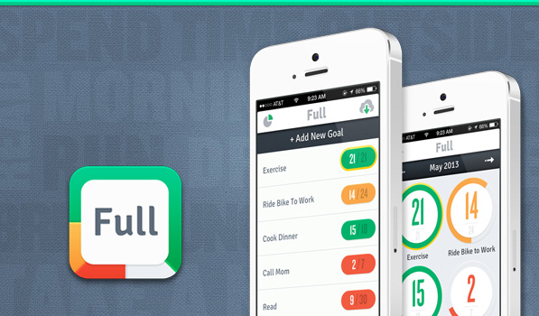Full lets you Track your Monthly Goals