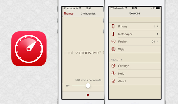 Velocity for iPhone