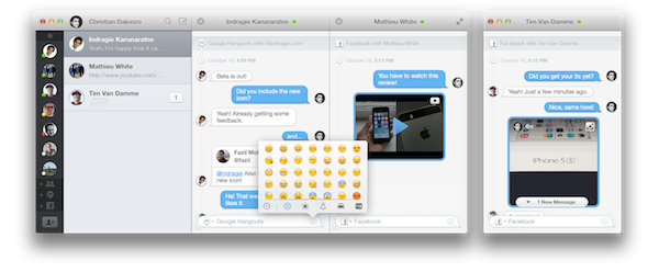 Flamingo is a Google Hangouts and Facebook Chat App for Mac