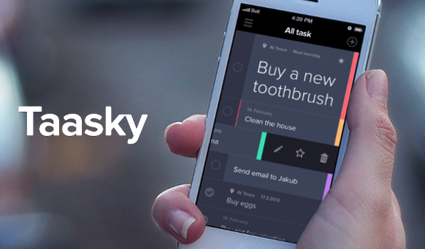 Taasky is an Intuitive Task Manager for your iPhone