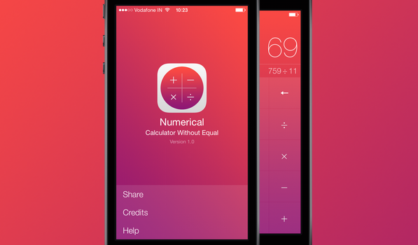 Numerical — A Beautiful Gesture Driven Calculator for iPhone