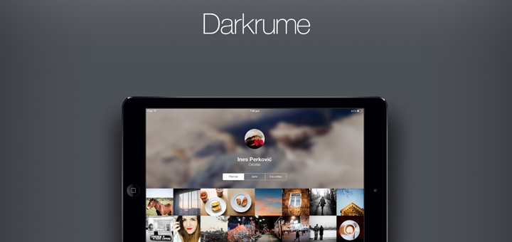 Darkrume — Flickr App for iPad