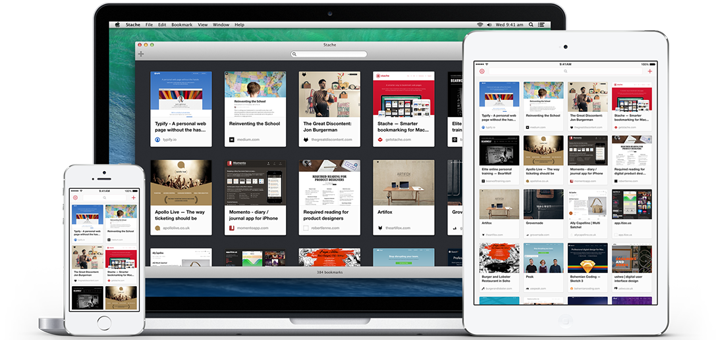 Stache — Visual Bookmarking App for iOS and Mac
