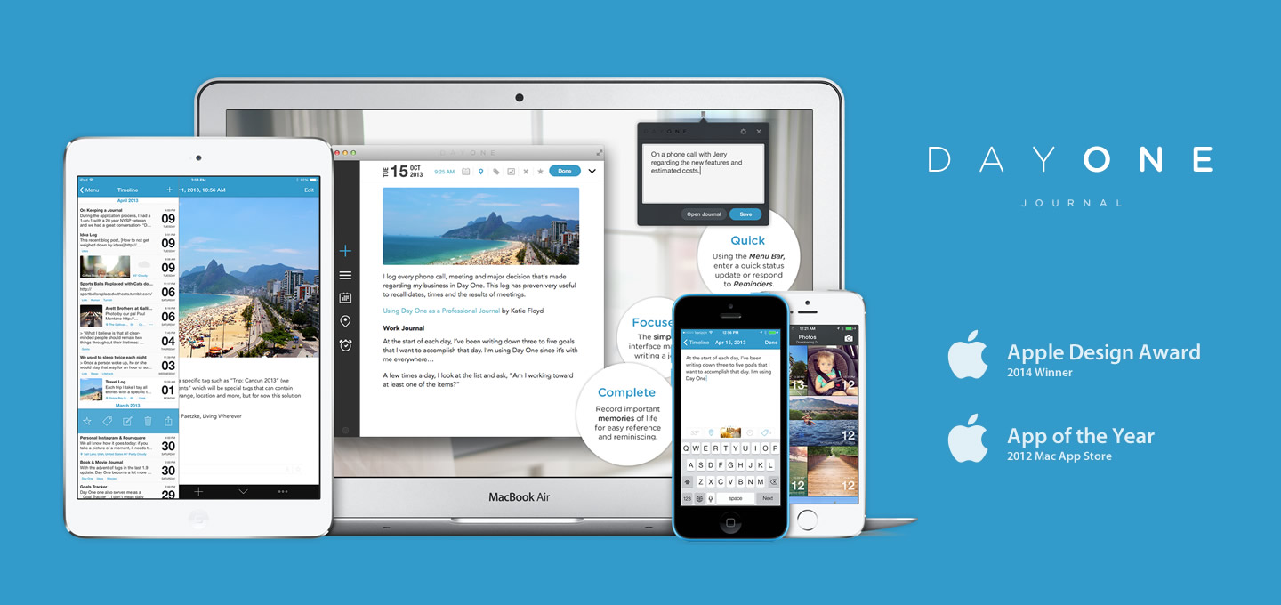 """Day One —€"""" A Simple and Elegant Journaling App [Sponsor]"""