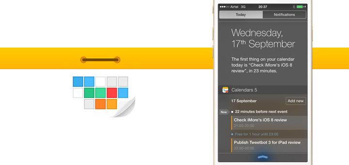 Calendars 5.5 Adds Today Widget & Interactive Notifications