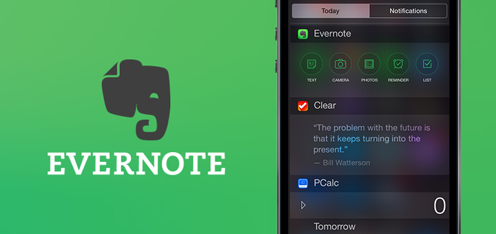 Evernote for iOS 8