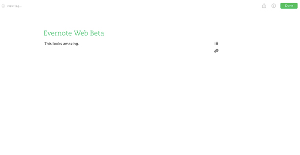 Evernote Web Beta Compose