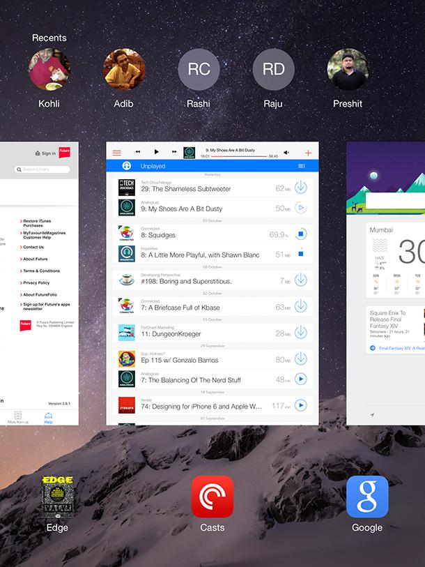 Multitasking Interface
