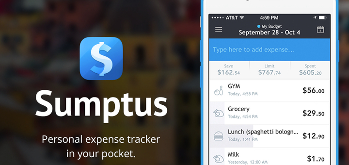 Sumptus — The Fantastic Expense Tracker