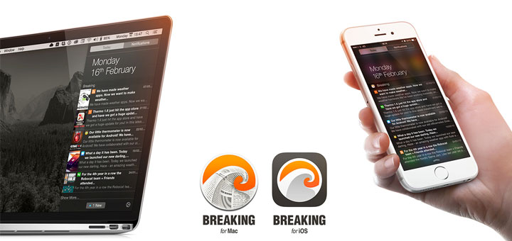 Breaking — A Today Widget for your Favorite RSS Feeds