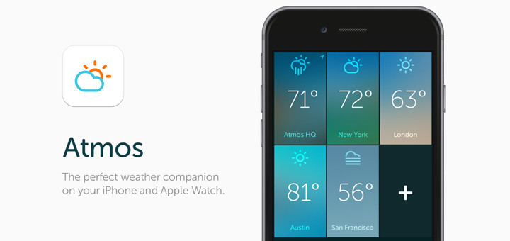Atmos — Beautiful Weather App for Apple Watch & iPhone