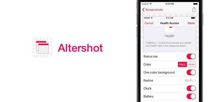 Altershot — Edit the Status Bar in your iOS Screenshots
