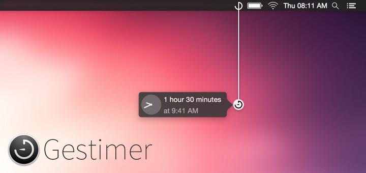 Gestimer is a Genius Way To Setup Reminders on a Mac