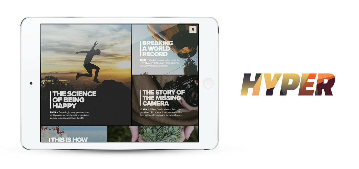 Hyper Is a Curated Video Magazine for iPad