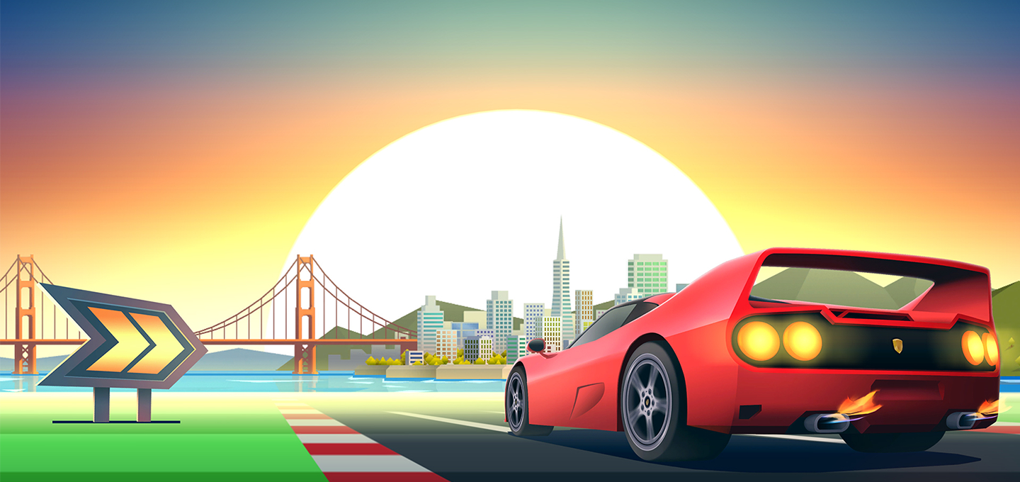 Horizon Chase — A Modern Take on an Old School Racing Game