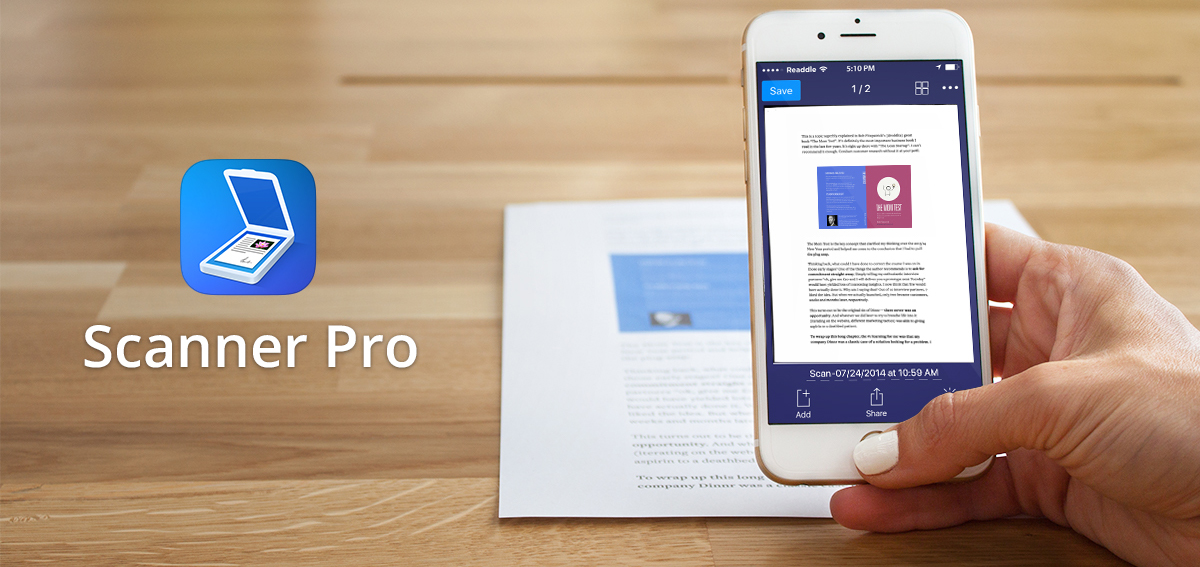 Scanner Pro 7 Adds OCR and Workflows