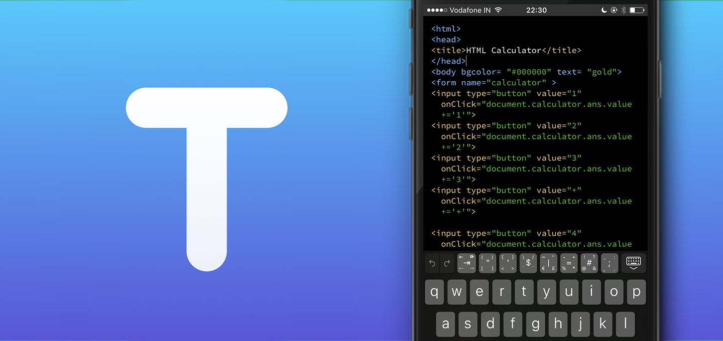 Textastic 6 — A Universal Code Editor for iOS