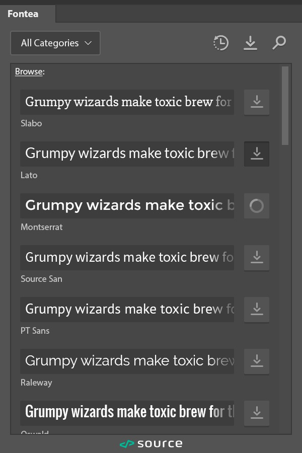 Fontea — A Free Photoshop Plugin for Google Fonts