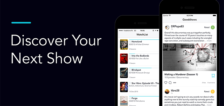 Goodshows — Discover Movies & TV Shows from your Friends